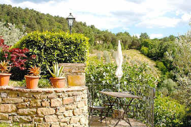Enjoy our terrace with its views out over the Tuscan countryside